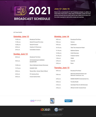 Screenshot 2021-06-10 at 11-33-50 Broadcast Schedule - Electronic Entertainment Experience